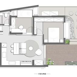 54平米一居室户型图