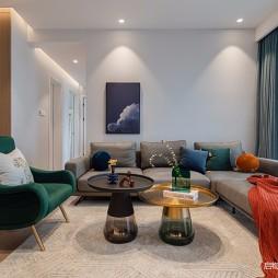 现代简约客厅装修实图