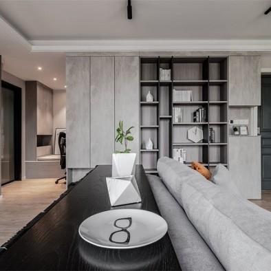 精装房打造黑白灰高逼格工业风品质生活_1595154472_4208660