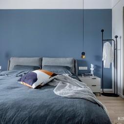 蓝色卧室窗帘