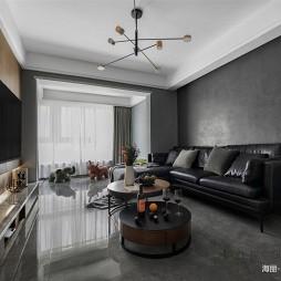 灰色客厅效果图
