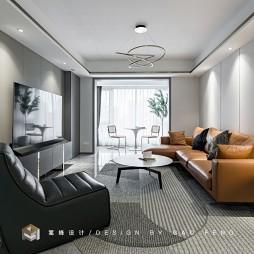 橙色沙发搭配客厅图