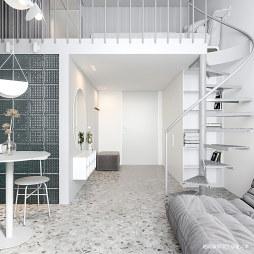 小型公寓楼梯设计