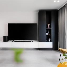 纯白电视背景墙