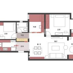 90平米三居户型图