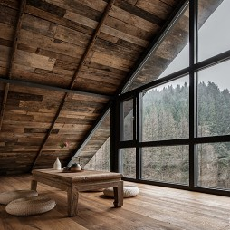 杉语民宿阁楼设计