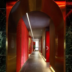 王红军龙虾博物馆餐厅过道设计