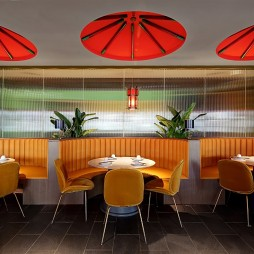 王红军龙虾博物馆餐厅卡座区设计