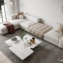 现代简约大客厅沙发图