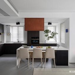 开放式L形厨房设计
