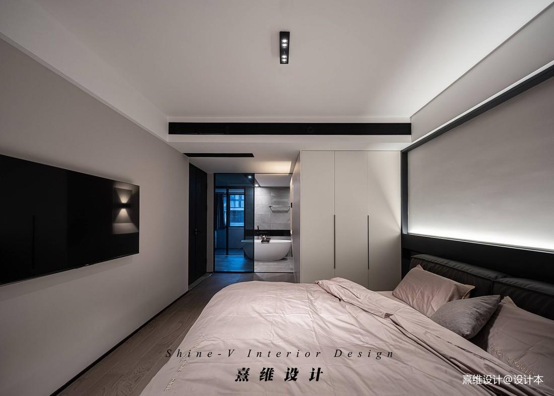 黑白灰大卧室设计