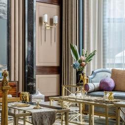 美式客厅壁灯效果图