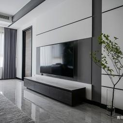 黑白灰电视墙装修效果图