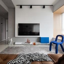 纯白电视墙设计