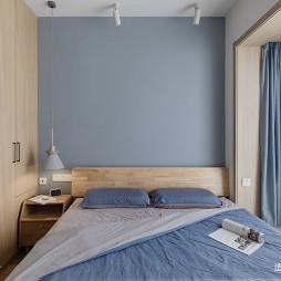 日式蓝色调卧室图片