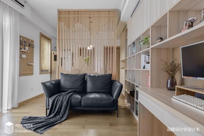 小客厅沙发清新日式风图片