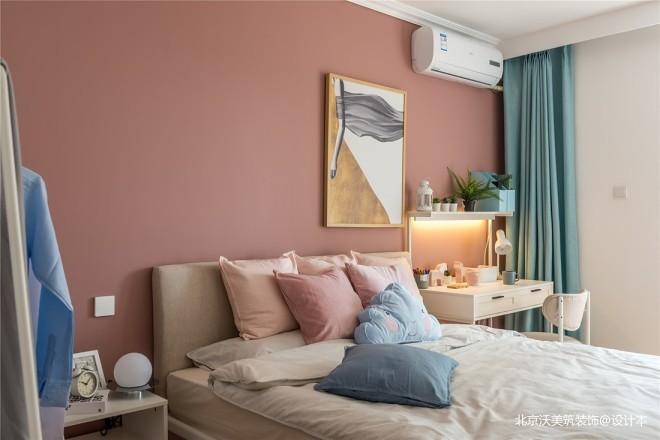 粉色臥室圖