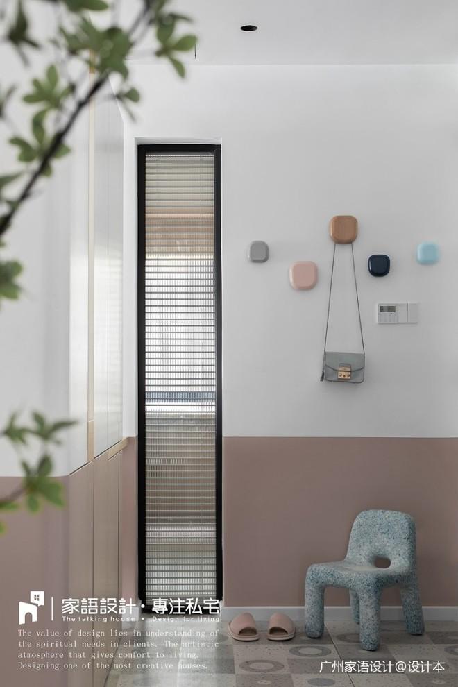 粉色玄關墻掛設計圖
