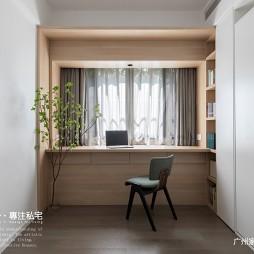 书房原木书桌图片欣赏