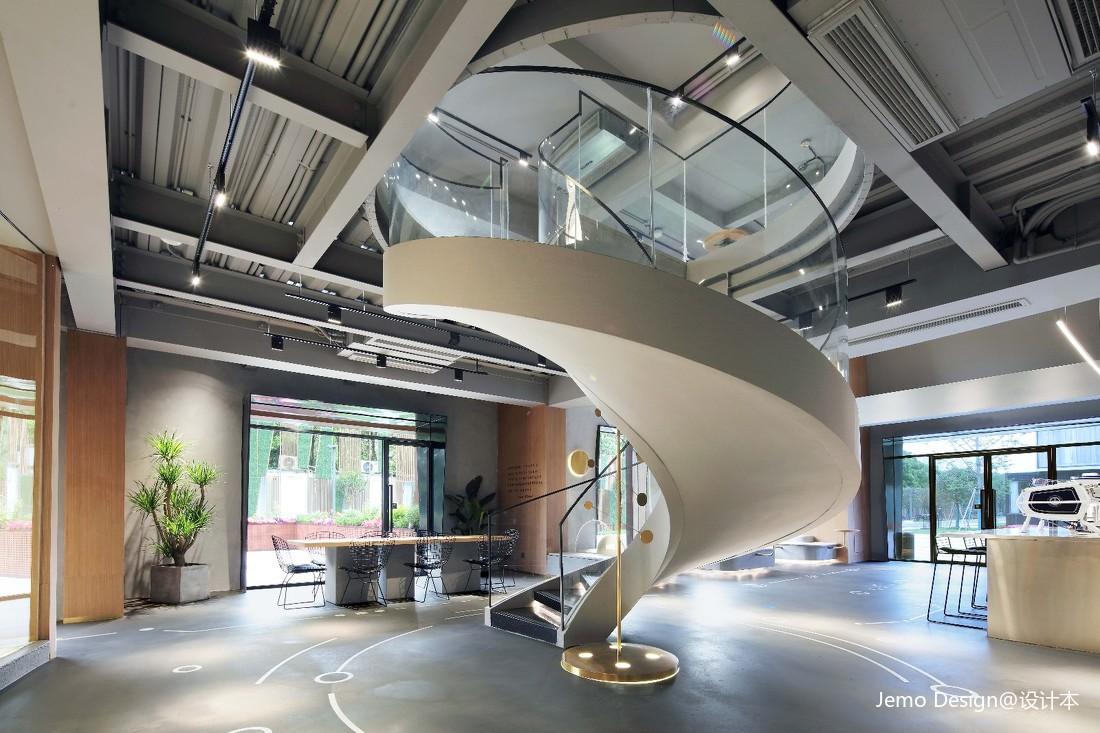 """""""学院精神""""文化主题咖啡馆楼梯设计图"""