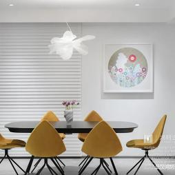 简洁餐厅背景墙造型图片