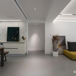 现代客厅灯效果图