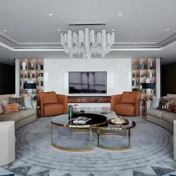 轻奢客厅吊灯设计图片