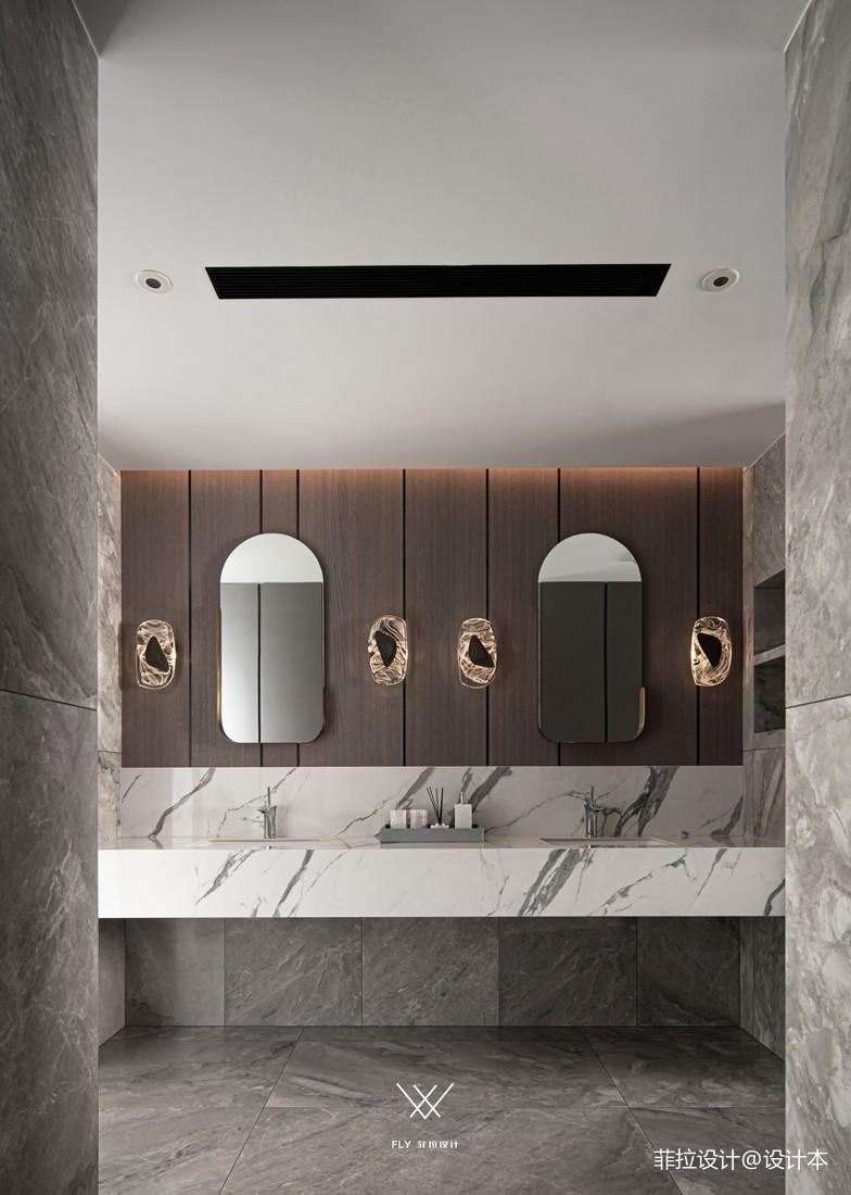轻奢卫生间双洗手台设计