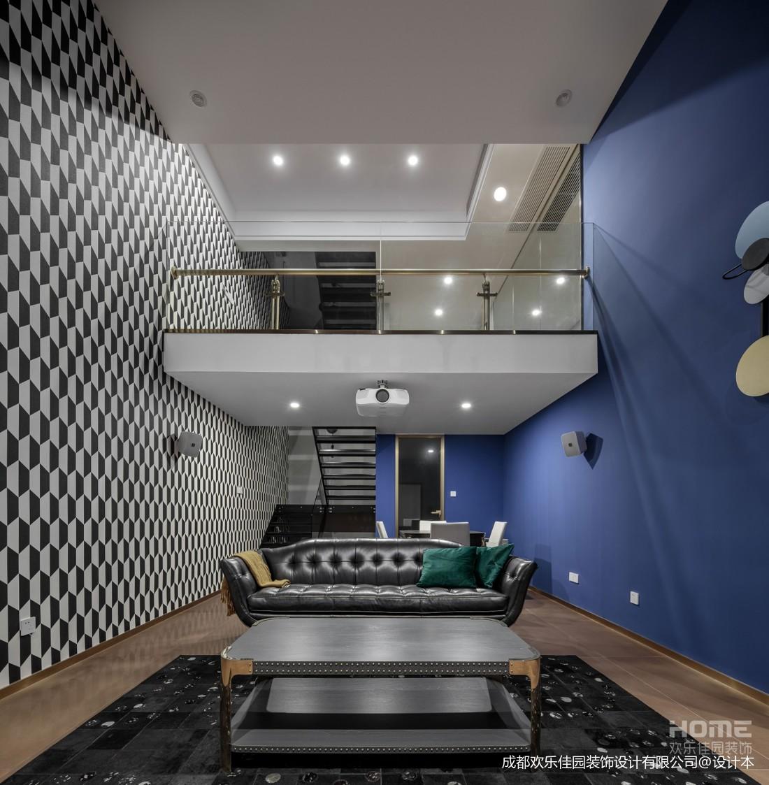 复式两层影音室图片