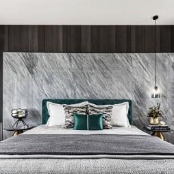 现代轻奢卧室背景墙装饰图