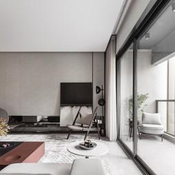 现代简约客厅墙纸效果图