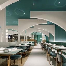 椰客餐饮店卡座区设计
