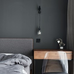 灰色系臥室壁燈圖片