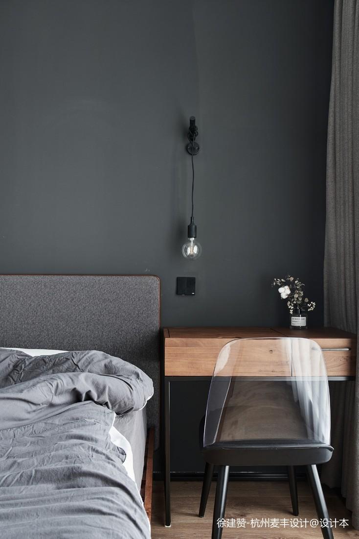 灰色系卧室壁灯图片