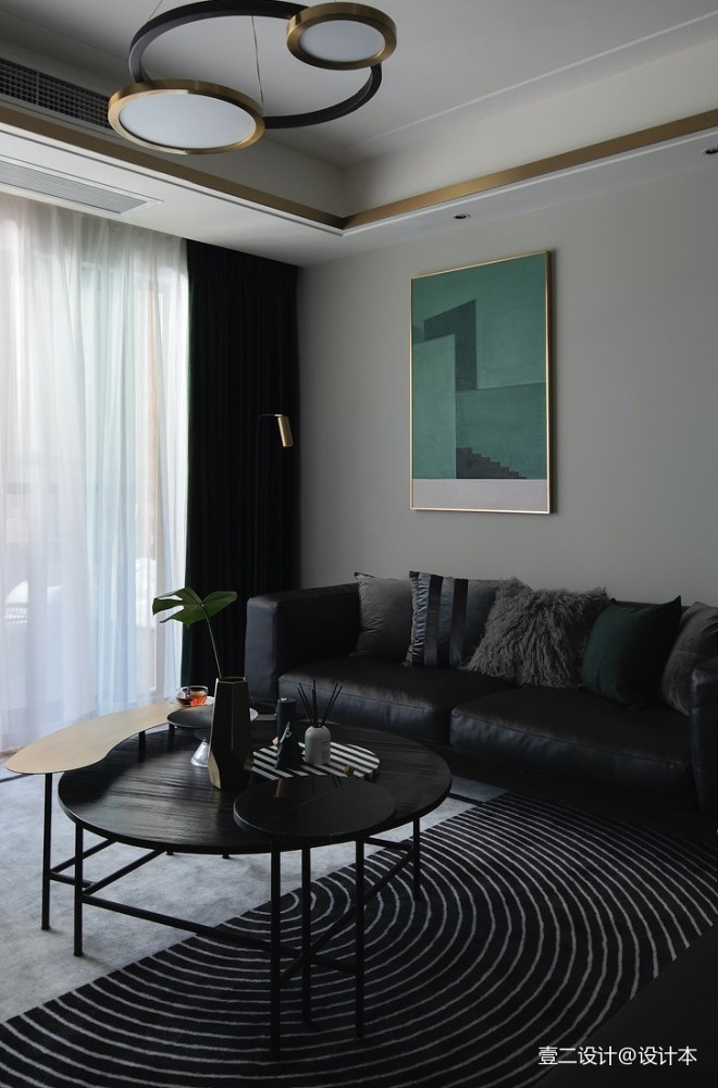 黑色+绿色 精装房变新家_15999