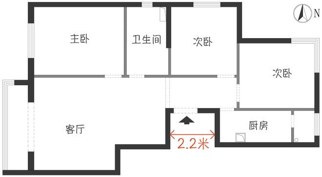 借景入室丨门厅变窄,视觉更加通透_1
