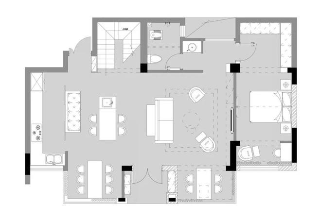KD室内设计 鲁能领秀城 一缕霜华入