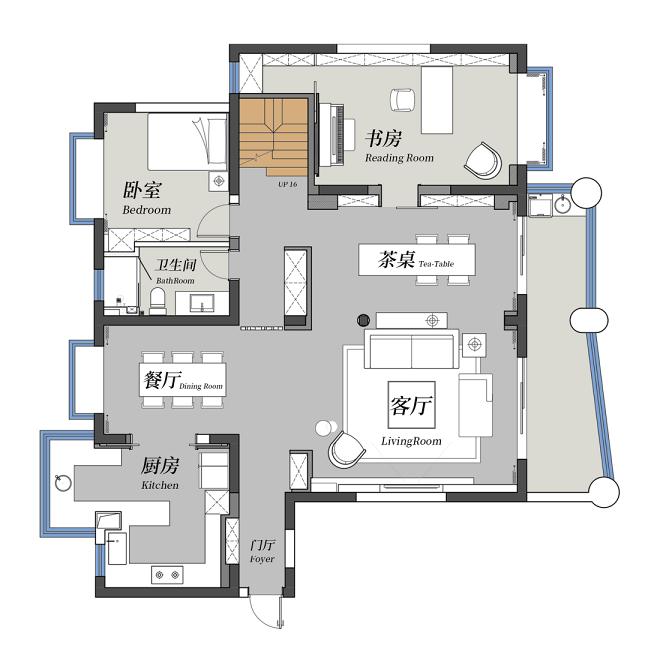 住宅可視化-《自然-溫馨-舒適-恒久
