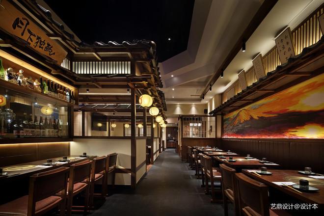 日式居酒屋设计,浪杯萬和牛烧肉居酒屋