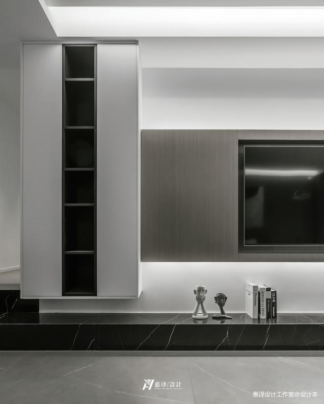 高级黑白灰+暖橙色,唤醒空间的悦动_