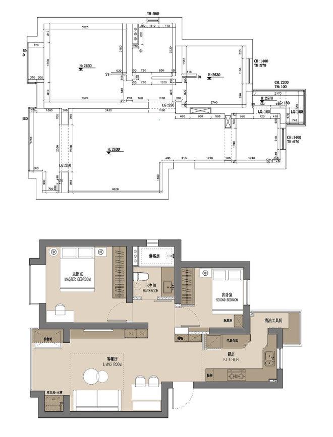 气质森系之家,低饱和度居室明亮温馨。