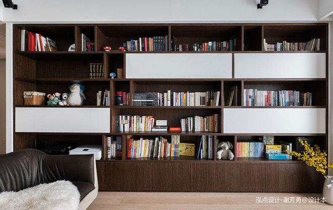 泓点设计原创|家的思考——书香氛围之