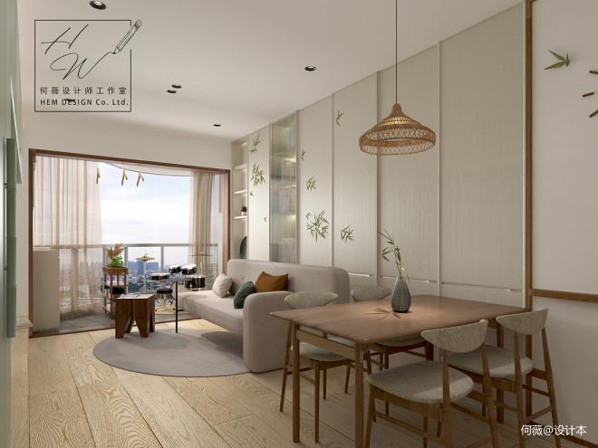 【知竹】打造旧房78方两房小而美的家