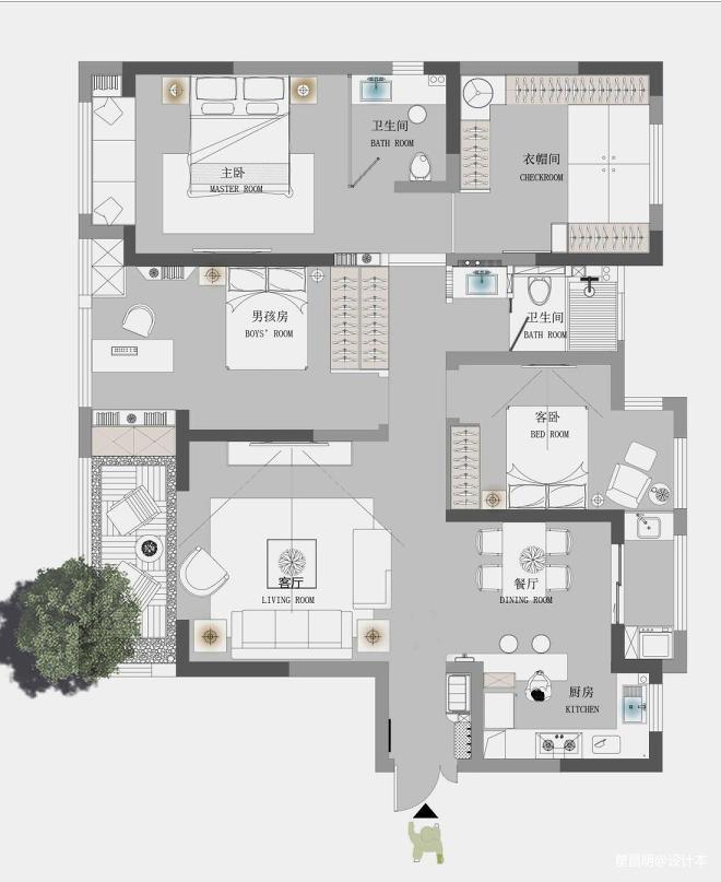 大作空间设计| 《城堡中的插画师》_