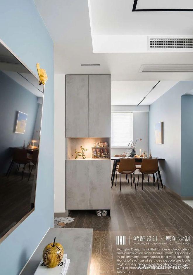 气质灰暮蓝丨一个人的轻奢空间_162