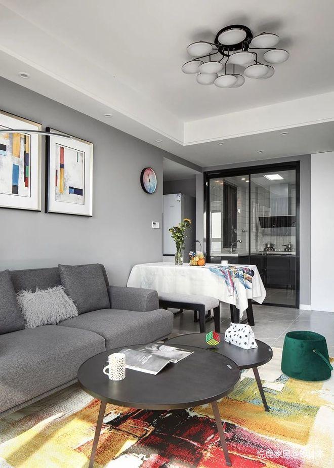 97m²三居室营造清透明亮的现代空间