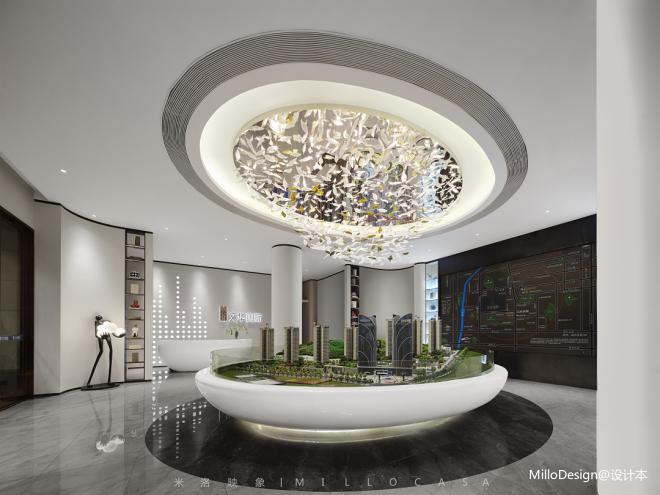 米洛映象|文华国际销售中心:轻盈意趣