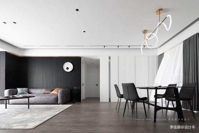 李佳眉设计 精装房改造,黑白灰的简约