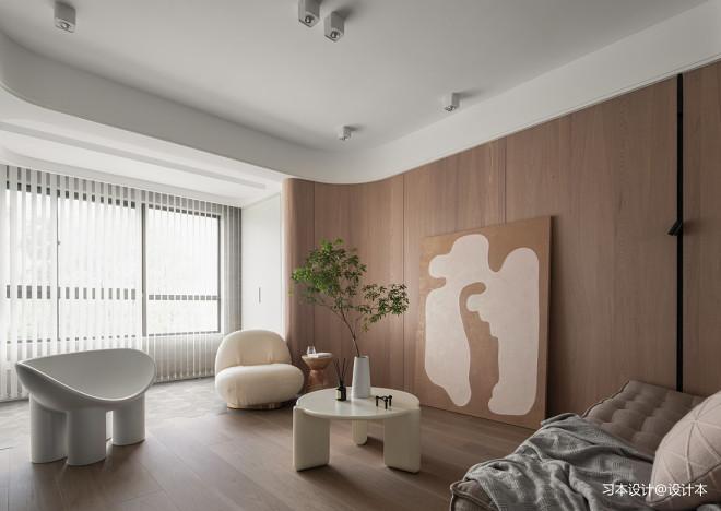 实景|弧形与空间构造柔美简致的居家美