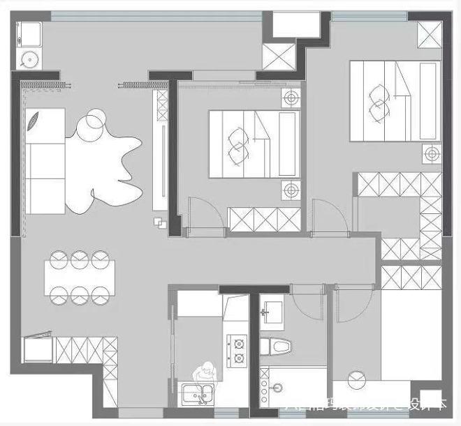 105m²三居:家,是真正释放自我的